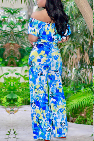 Modishshe Off The Shoulder Printed Jumpsuits