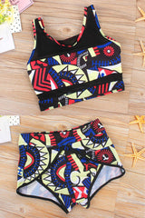 Modishshe Print Two Piece Swimsuit