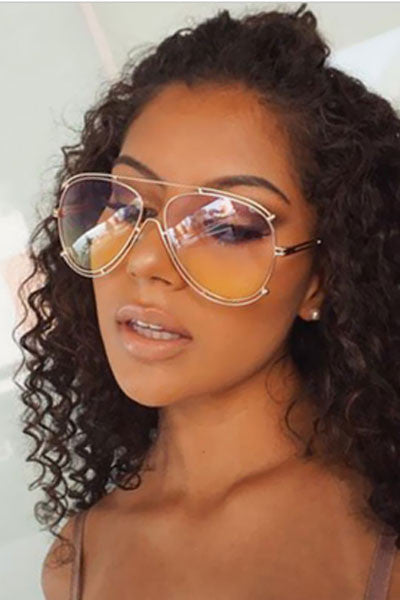 Modishshe Metal Frame Sun Glasses