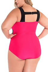 Modishshe Plus Sized Bandage One Piece Swimsuit