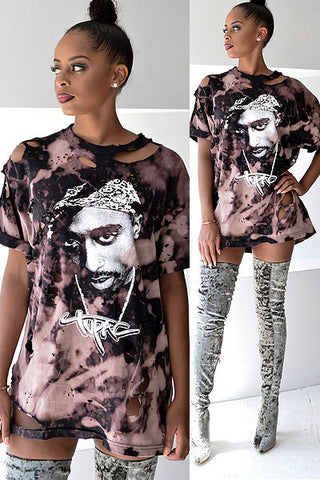 Modishshe Stylish Women Ripped T-shirts