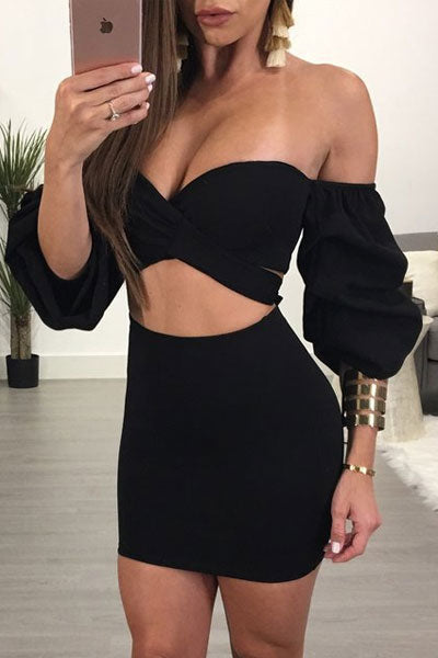 Modishshe Sexy Bowknot Two-piece Dress