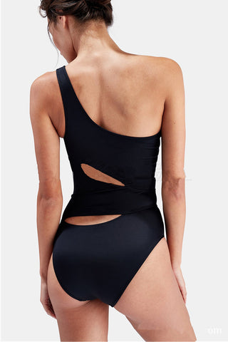 Modishshe One Shoulder One Piece Swimwear