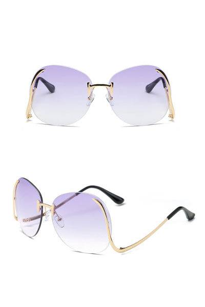 Modishshe Women Fashion Frameless Sunglasses
