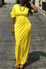 Modishshe Round Neck Maxi Dress