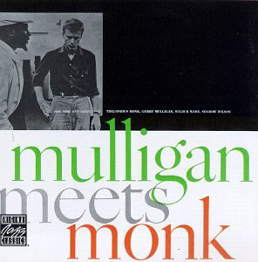 GERRY MULLIGAN THELONIOUS MONK MULLIGAN MEETS MONK LP VINYL NEW (US) 33RPM