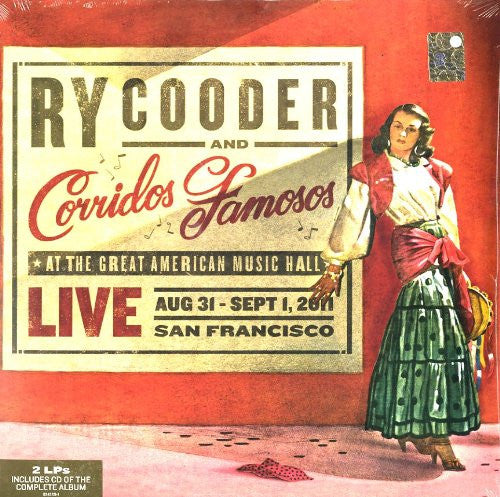 RY COODER AND CORRIDOS FAMOSOS LIVE IN SAN FRANCISCO LP VINYL 33RPM NEW