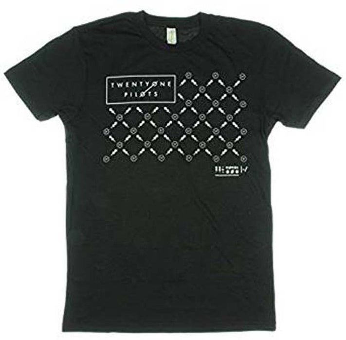 TWENTY ONE PILOTS Fancy Mens BLACK T-SHIRT Small NEW Official