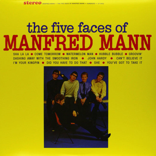 MANFRED MANN FIVE FACES OF MANFRED MANN LP VINYL NEW (US) 33RPM