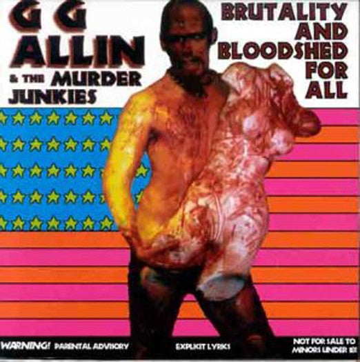 GG ALLIN BRUTALITY & BLOODSHED FOR ALL LP VINYL NEW (US) 33RPM