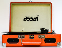 Assai Retro Orange Vinyl Record Player Vinyl LP To Mp3 Converter Turntable
