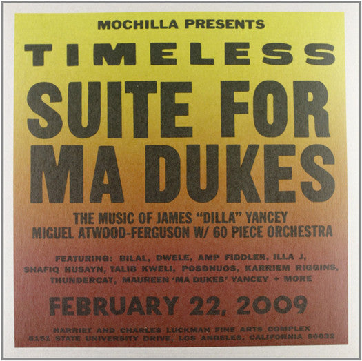 TIMELESS SUITE FOR MA DUKES VARIOUS LP VINYL NEW (US) 33RPM