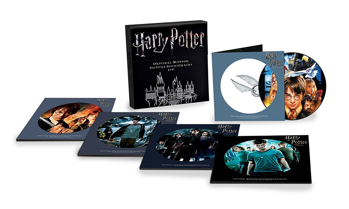 "HARRY POTTER Soundtracks I-V 10 12"" Pic Disc Box-Set NEW 2017"