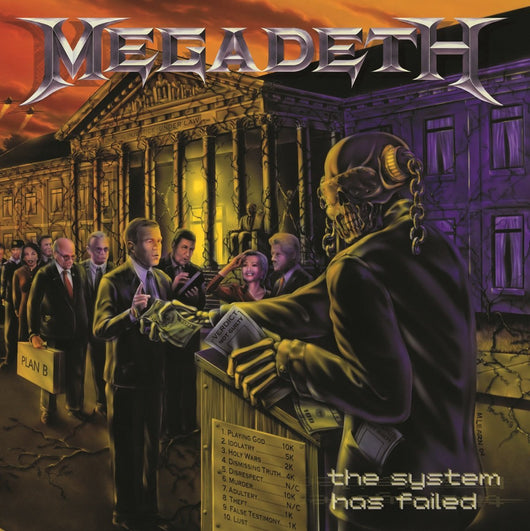 MEGADETH THE SYSTEM HAS FAILED LP VINYL 33RPM NEW