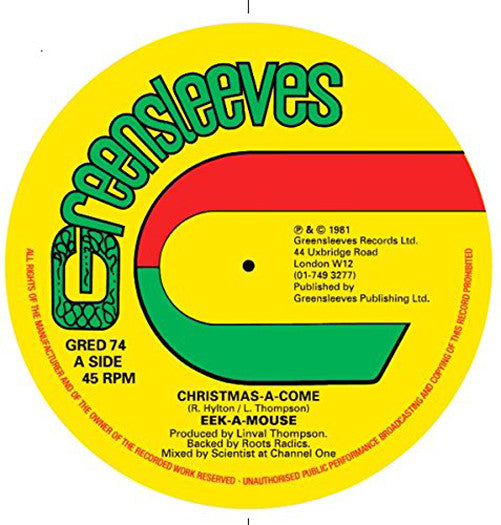 EEKAMOUSE CHRISTMASACOME 12 INCH SINGLE VINYL NEW 2014 33RPM