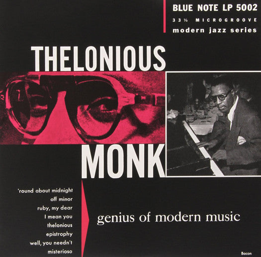 THELONIOUS MONK GENIUS OF MODERN MUSIC 1 LP VINYL NEW (US) 33RPM
