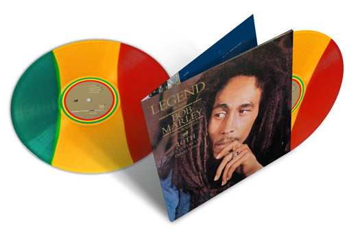 Bob Marley & The Wailers - LEGEND 30th Ann. LTD Tri-Colour LP VINYL