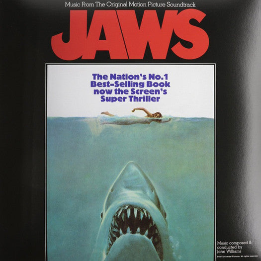 JAWS SOUNDTRACK JOHN WILLIAMS LP VINYL NEW 2015 REISSUE