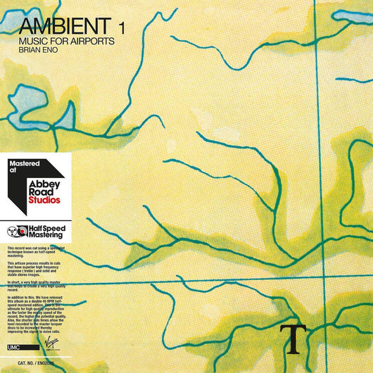 Brian Eno Ambient 1 Music for Airports 1/2 Speed Vinyl LP New 2018