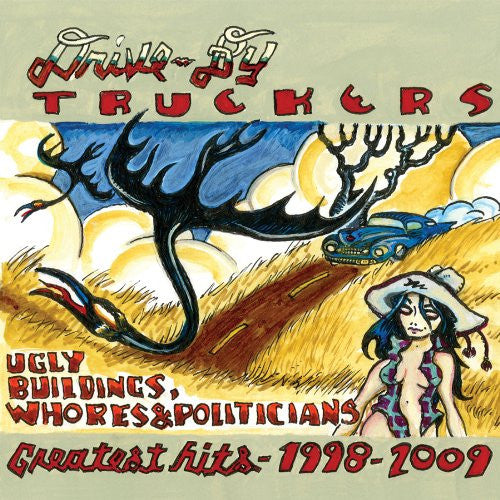 DRIVE TO BY TRUCKERS UGLY BUILDINGS WHORES AND POL LP VINYL 33RPM NEW