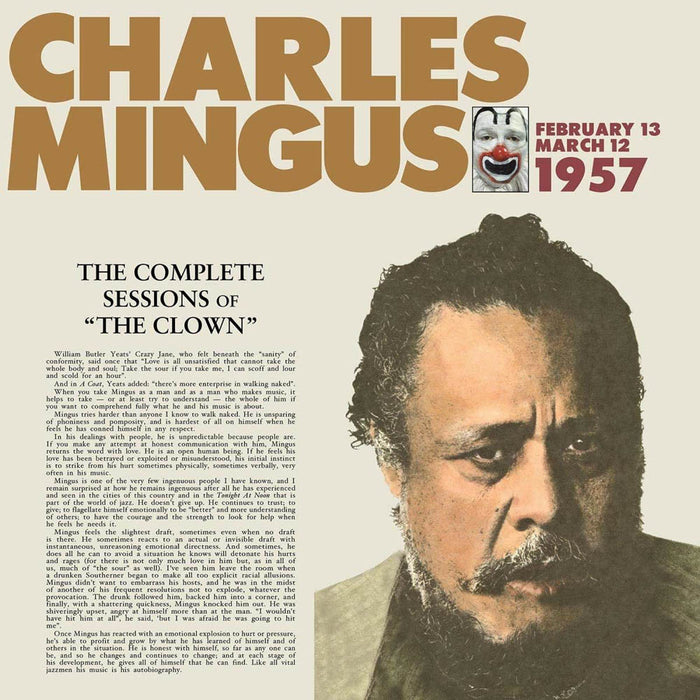 Charles Mingus Complete Sessions of the Clown Vinyl LP New 2018
