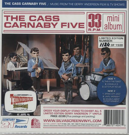 GERRY ANDERSON THE CASS CARNABY FIVE LP VINYL NEW 2014 33RPM