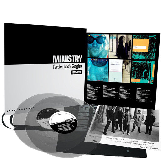 MINISTRY TWELVE INCH SINGLES DOUBLE VINYL NEW 33RPM EXPANDED EDITION