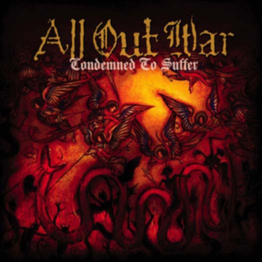 ALL OUT WAR CONDEMNED TO SUFFER LP VINYL NEW