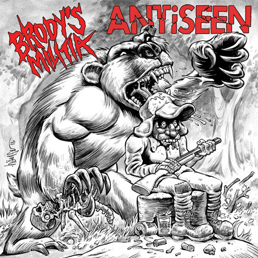 ANTISEEN BRODY'S MILITIA PRIMAL ROAR SPLIT LP VINYL NEW (US) 33RPM