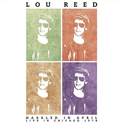 LOU REED HASSLED IN APRIL BLUE LP VINYL DOUBLE LP VINYL 33RPM NEW