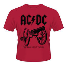 AC/DC FOR THOSE ABOUT TO ROCK MENS T SHIRT LARGE NEW OFFICIAL