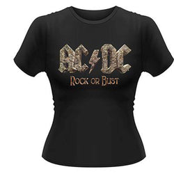 AC/DC ROCK OR BUST GIRLIE T SHIRT MEDIUM NEW OFFICIAL