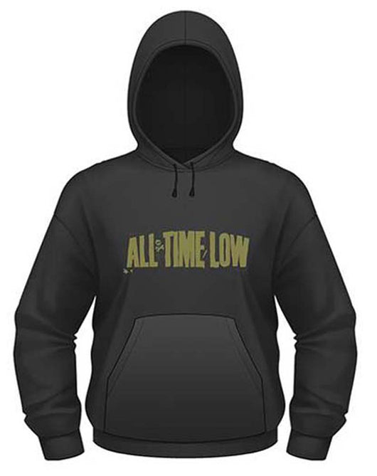 ALL TIME LOW HOLDS IT DOWN SMALL HOODED SWEAT SHIRT NEW OFFICIAL BLACK