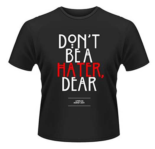AMERICAN HORROR STORY HATER MENS SMALL T SHIRT NEW OFFICIAL BLACK