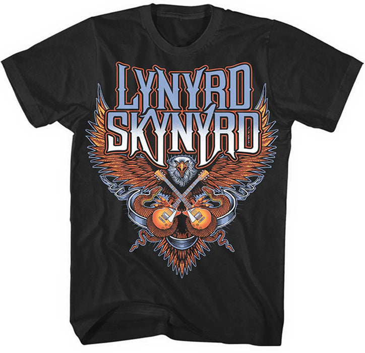 LYNYRD SKYNYRD Crossed Guitars MENS Black XXXL T-Shirt NEW