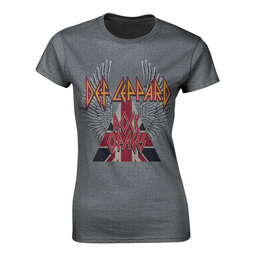 DEF LEPPARD Rock Of Ages WOMENS Grey XL T-Shirt NEW