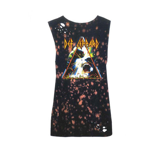 DEF LEPPARD Hysteria WOMENS XL Cutt-Off NEW