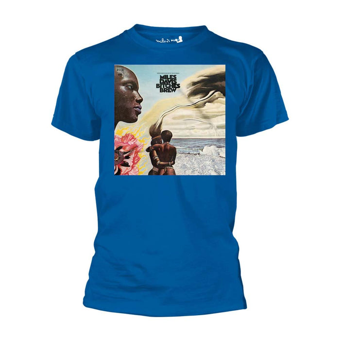 MILES DAVIS Bitches Brew MENS Blue SMALL T-Shirt NEW