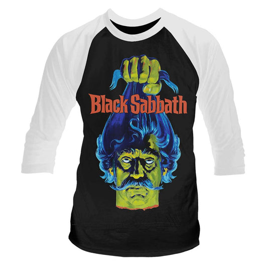 BLACK SABBATH Plan 9 Head MENS Black LARGE Baseball T-Shirt NEW
