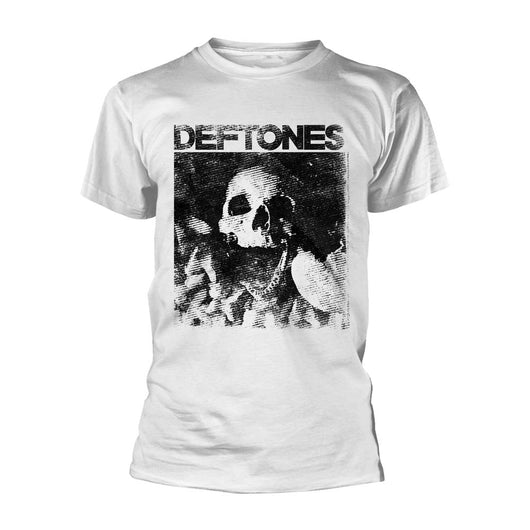 DEFTONES Skull MENS White XL T-Shirt NEW