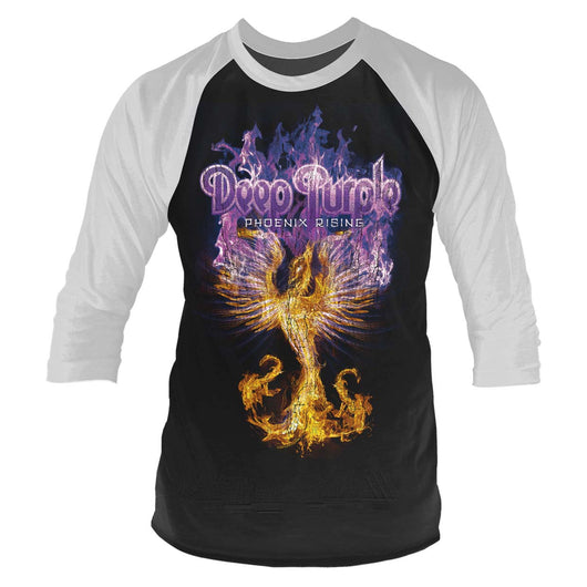 DEEP PURPLE Phoenix Rising MENS Black XXL Baseball Shirt NEW