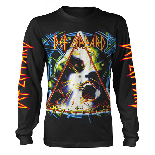 DEF LEPPARD Hysteria MENS Black LARGE T-Shirt NEW