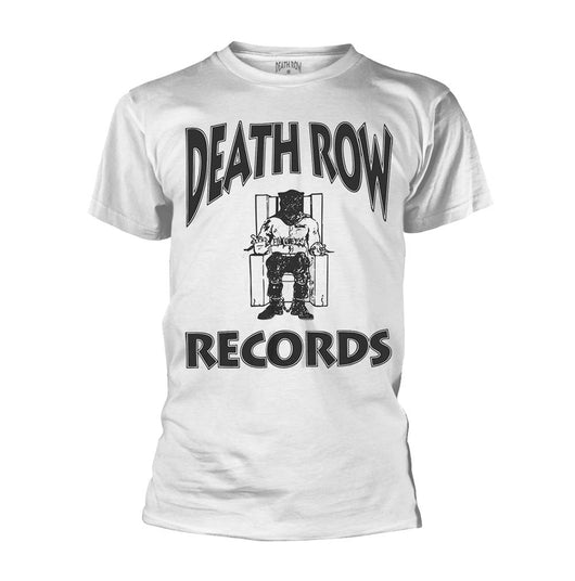 DEATH ROW RECORDS Logo MENS White LARGE T-Shirt NEW