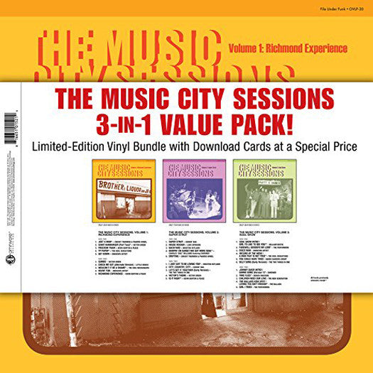 MUSIC CITY SESSIONS 3-IN-1 VALUE PACK LP VINYL NEW (US) 33RPM