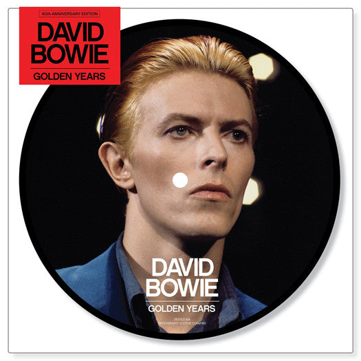 DAVID BOWIE GOLDEN YEARS 40TH ANNIVERSARY PICTURE DISC VINYL SINGLE NEW