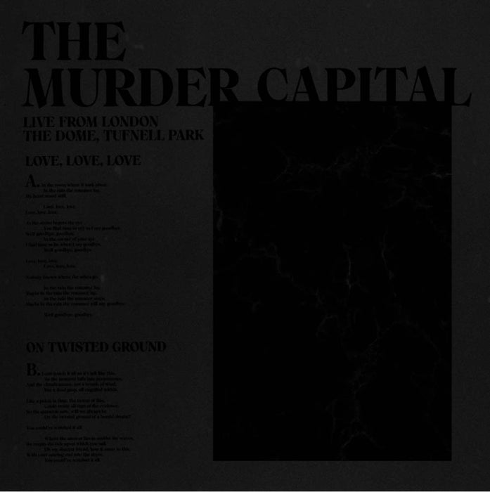 The Murder Capital - Live from London Vinyl LP 45rpm RSD Aug 2020