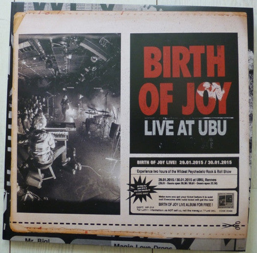 BIRTH OF JOY LIVE AT UBU LP VINYL NEW 2015 3LP COLOUR VINYL