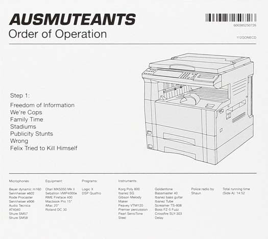 AUSMUTEANTS Order Of Operation LP Vinyl NEW