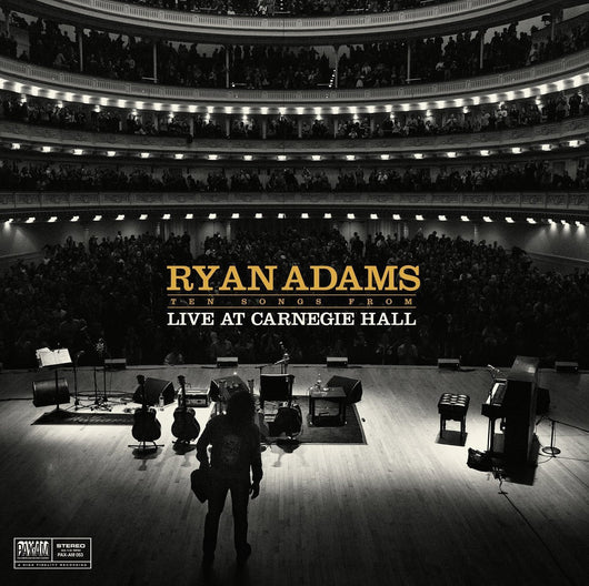 RYAN ADAMS TEN SONGS LIVE FROM CARNEGIE HALL LP VINYL NEW 140GM 33RPM 2015