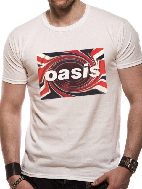 OASIS Twirl MENS White MEDIUM T-Shirt NEW